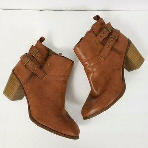 Torrid womens 12W heeled brown cognac ankle boots